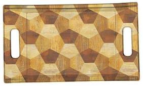 Milton Comfy Matt Pine Melamine Tray;Medium;Multi (15 x 8)