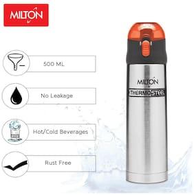 Milton CROWN 600 Thermosteel Flask Set of 1 ( Orange , Stainless Steel ,  600 ml )