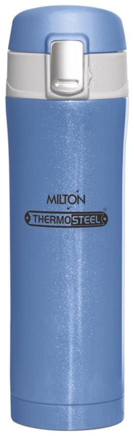 Milton Dazzle Thermosteel Insulated Bottle, 1 pc, 400 ML, Blue