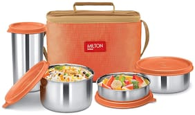 Milton Delicious Stainless Steel Lunch Box;Orange