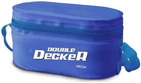Milton Double Decker Plastic Lunch Box;Blue