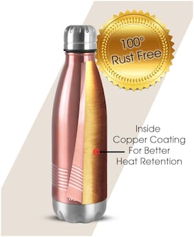 Milton DUO DELUXE 350 Thermosteel Flask Set of 1 ( Pink , Stainless Steel ,  350 ml )