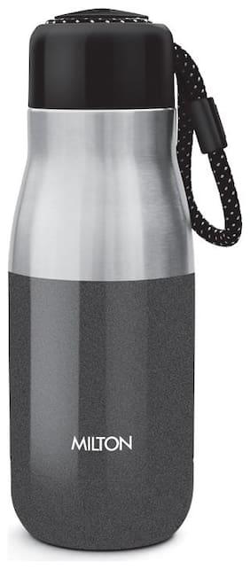Milton Eminent-400 Stainless Steel Water Bottle;369 ml;Black