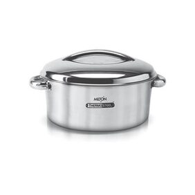 Milton Excel Insulated Steel Casserole;1-Piece;1500 ML;Silver