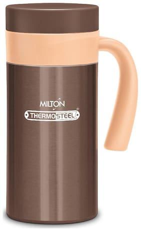 Milton Flagon 400 Stainless Steel Hot & Cold Tea Coffee Flask 380 ml Dark Brown