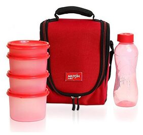 Milton Full Meal 4 combo 5 Pc Lunch pack with Glass;
