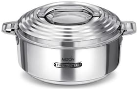 Milton Galaxia Double Insulated Thermosteel Cassrole, 1 pc, 3.5 Ltr, Silver