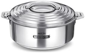 Milton Galaxia Double Insulated Thermosteel Cassrole, 1 pc, 5 L, Silver