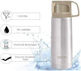 Milton Glassy Grey Thermosteel flask ( 1000 ml , Set of 1 )