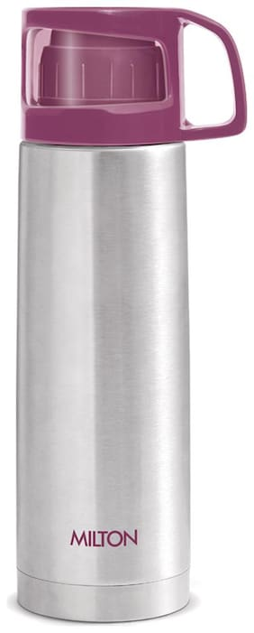 Milton GLASSY 350 Thermosteel Flask Set of 1 ( Pink , Stainless Steel ,  350 ml )