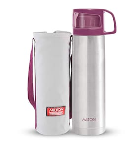 Milton Thermosteel Glassy 750,Pink Bottle Flask