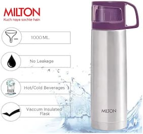 Milton Thermosteel Glassy 1000,Purple Bottle Flask