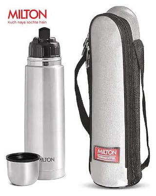 Milton Insulated 1000ml Thermosteel Flip Lid Flask: Silver