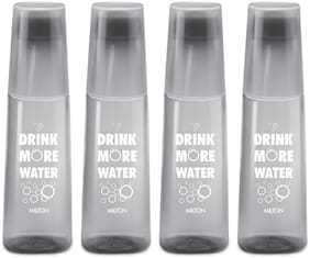 Milton KIP - SIP 1000-4 PCS SET Plastic Water Bottle Set of 4 ( Grey , 4000 ml )