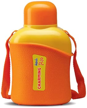 Milton Thermosteel Flask Set of 1 ( Orange , Stainless Steel ,  600 ml )