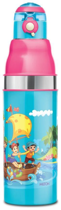 Milton KOOL STUNNER 600 Inner Steel Water Bottle for Kids, Blue, 520 ml