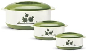 Milton Orchid Insulated Thermoware Jr Casserole Gift Set;Set of 3;Green