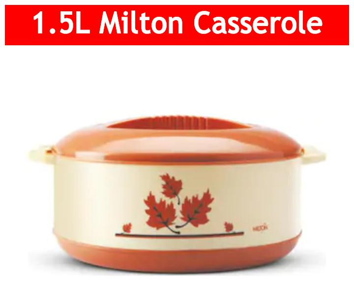 Milton Orchid Insulated Thermoware Casserole;1 pc;1500 ml;Brown by Smart Shophar