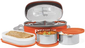 Milton Executive Lunch Box, Orange - Set of 3