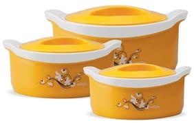 Milton Marvel Jr Gift Set (450ml+850ml+1500ml), Yellow Casserole Set Of 3