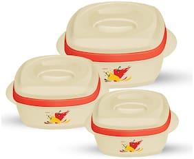Milton Milano Jr Gift Set (500/1000/1500) Cream Casserole Set Of 3