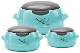 Milton Microwow One Touch  Jr Gift Set, Blue Casserole Set Of 3