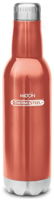 Milton PRIDE 600 Thermosteel Vaccum Insulated Hot & Cold Water Bottle, 500 ml, Red
