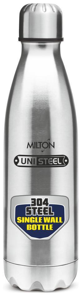 Milton Shine Silver Thermosteel bottles   775 ml , Set of 1