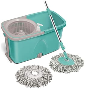 Milton Spotzero Classic 360 Degree Cleaning Spin Mop with Easy Wheels;2 Refill and Bucket