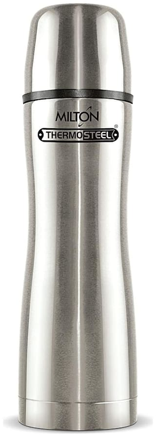 Milton ALLY 500 Thermosteel Flask Set of 1 ( Silver , Stainless Steel ,  500 ml )