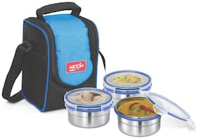 Milton 3 Containers Stainless steel Lunch Box - Blue