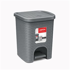 Milton Step Up Pedal Bin with Removable Inner Bin, 4 Litre, Grey