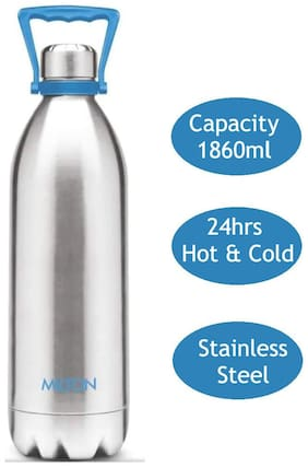 Milton Duo 1860ml Thermosteel Flask Bottles, Silver