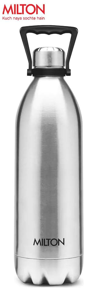 Milton DUO WITH HANDLE 2200 Thermosteel Flask Set of 1 ( Silver , Stainless Steel ,  2020 ml )