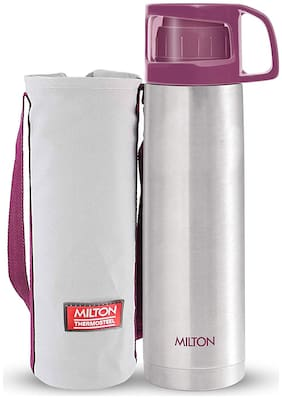 Milton GLASSY 1L Thermosteel Flask Bottles, Pink