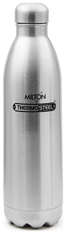 Milton Thermosteel Duo 1800ml Insulated Steel Bottle - Steel Plain