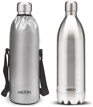 Milton DUO BOTTLE WITH JACKET Thermosteel Flask Set of 1 ( Silver , Stainless Steel ,  1800 ml )
