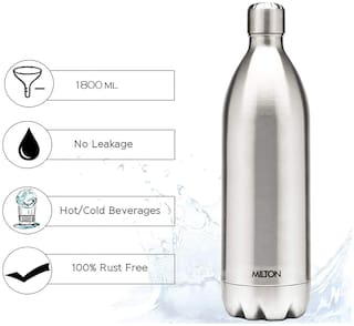 Milton Duo DLX 1800, 1.8L Thermosteel Flask Bottles, Silver