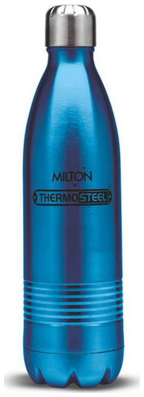 Milton Thermosteel Duo DLX 24Hour Hot & Cold Bottle;1-Piece;1000 ml;Blue
