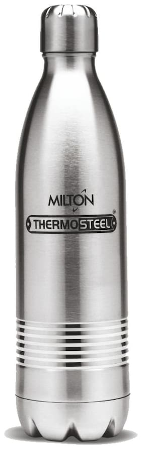 Milton Thermosteel Duo DLX 24Hour Hot & Cold Bottle;1-Piece;1000 ML;Silver