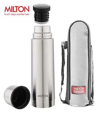 Milton Plain Lid Thermosteel Thermosteel Flask Set of 1 ( Silver , Stainless Steel ,  500 ml )