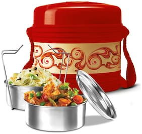 Milton VECTOR 2 2 Container Plastic Lunch Box Set of 1 ( Red ,  520 ml )