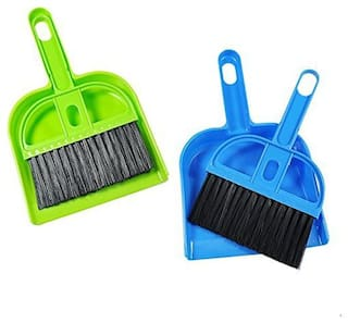 Mini Dustpan Supdi with Brush Broom Set (Assorted Colour)- Pack Of 2Pcs Mini Dustpan Sold By Evershine Gifts and Household