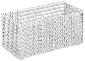 Miniso Fiber 2-Section Rectangle Acrylic Organizer