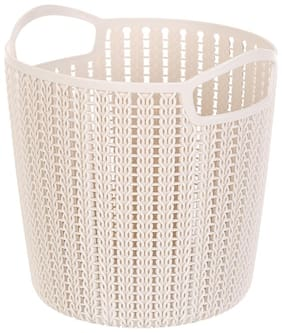 Miniso Pet Medium Plaited Round Storage Bucket