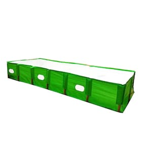 Mipatex 250 GSM HDPE Organic Vermicompost Maker Bed;8ft x 4ft x 2ft (Green)