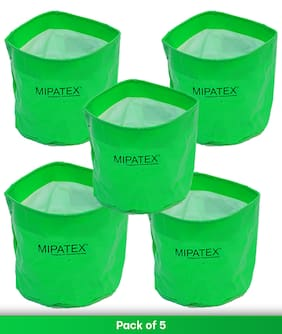 Mipatex HDPE Woven Fabric Grow Bags 6in x 6in;Heavy Duty Plant Pot Fruits Vegetable;Terrace Home Kitchen Gardening Bags
