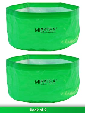 Mipatex Woven Fabric Grow Bags 24inch x 12inch;Heavy Duty Plant Pot Fruits Vegetable;Terrace Home Kitchen Gardening Bags (Pack of 2)