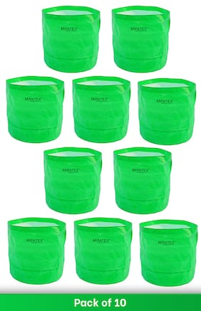 Mipatex Woven Fabric Grow Bags 24inch x 24inch;Heavy Duty Plant Pot Fruits Vegetable;Terrace Home Kitchen Gardening Bags (Pack of 10)