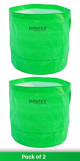 Mipatex Woven Fabric Grow Bags 12in x 12in;Heavy Duty Plant Pot Fruits Vegetable;Terrace Home Kitchen Gardening Bags (Pack of 2)